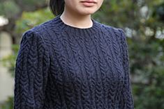 Nifty cable pattern! Looks like the pattern on sale is only the cable pattern, not the sweater.