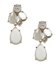 kate spade new york Crystal Chapel Cluster Drop Earrings | Dillards.com