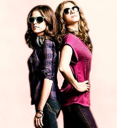 Beca Mitchell & Chloe Beale || I find it funny that bechloe is much more popular than Jeca.
