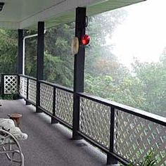 custom lattice panels for front porch railings by Front Porch Ideas and More