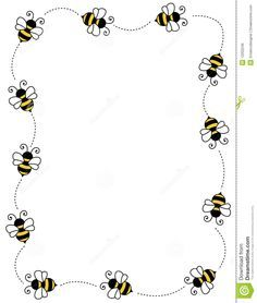 clip art frames with bumble bees | ... on white background page border / frame / corner. By Dreamzdesigner