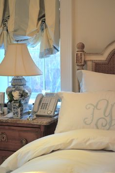 Window Treatment & Bedding By Invitation Only - The Enchanted Home Dream Bedroom, Home Bedroom, Master Bedroom, Bedroom Decor, Boudoir, Enchanted Home, Guest Suite, Guest Bedrooms, Beautiful Bedrooms