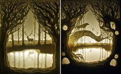 Simply Creative: Papercut Light Boxes by Hari & Deepti