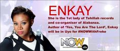 STAR ACTS AT #NOWWithFreke @freke_live ENKAY @officialenkay is a Gospel artiste and worship minstrel. Her musical style is Urban Contemporary sound with fusion of Alternative Rock. She is credited with authoring the hit single Yes You Are the Lord. Uyo welcome the 1st lady of Tehillah Records to Noah's Ark on Nov 6.
