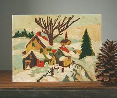 Whaling City Cottage: a paint-by-numbers winter scene
