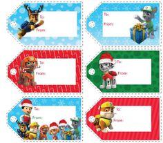 Paw Patrol Free Printable Christmas Tags