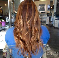 Copper Hair, red hair, brown hair, caramel hair, Balayge, Highlights, long hair, curls