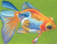 Telescope Eyed Goldfish Art Print by EmmyLiey | Society6