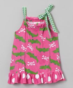 Love this Pink Alligator Ruffle Tunic - Infant, Toddler & Girls by Corky's Kids on #zulily! #zulilyfinds