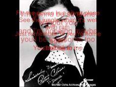 Patsy Cline ~ You belong to me Lyrics