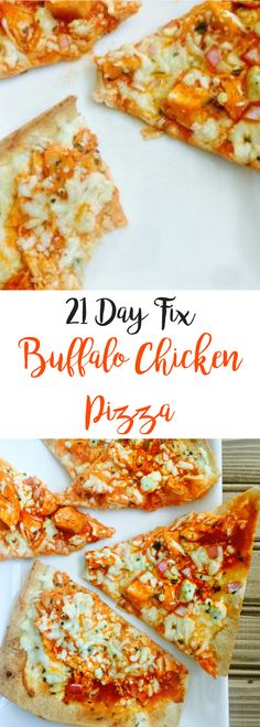 21 Day Fix Buffalo Chicken Pizza   Confessions of a Fit Foodie