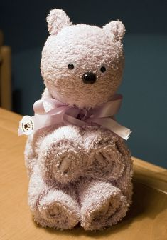 con il cuore e le mani: con il giusto abito... How to make a Towel Bear - step by step Photo tutorial