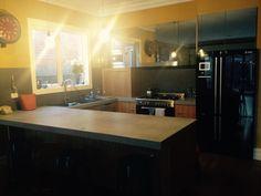 My House, Kitchen Ideas, Kitchen Island, Building, Table, Furniture, Home Decor, Island Kitchen, Decoration Home