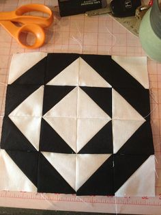 Modern Half-Square Triangle Quilt-a-Long Block 24