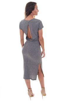 Vila Kanely Ribbed Midi Dress | DIZEN