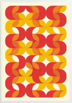 Angela Ferrara - retro prints & posters yellow red orange