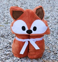 Fox Adult Hooded Bath Towel / Adult Hooded Towel / XL Adult  #hoodedtowel #foxy #birthdaygift #bathroom #woodland