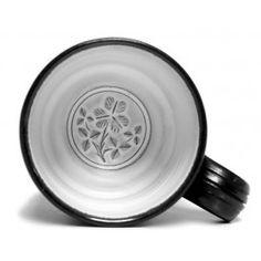 Shamrock mug by Stephen Pearce Pottery. Pottery Shop, Handmade Pottery, Irish Pottery, Earthenware, Ceramic Pottery, Celtic, Ceramics, Mugs, Tableware