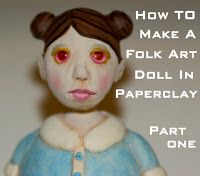 Air Dry Clay Tutorials: How to Make a Paperclay Art Doll by MLB