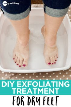 Tired of that tough and ultra-dry skin on your heels? This two-ingredient treatment is like a reset button for your feet!