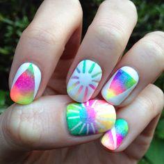 Rainbow nails (inspired by Kesha's awesome rainbow hair)