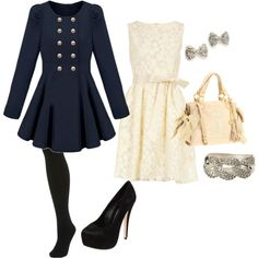 Inspired by blair waldorf, created by shelbylouwho.polyvore.com. Fall/winter outfit?