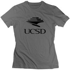 ZhiXiong Women\'s O-Neck Ucsd Logo Tshirts DeepHeather [tWomen_07774] - $17.90 : myshirtsmall.com