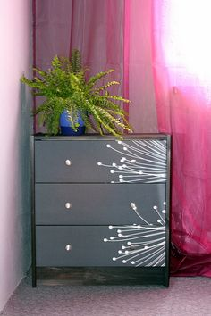 #ikea RAST chest of drawers: painted, new hardware added