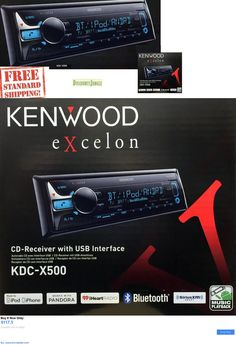 Vehicle Electronics And GPS: New Kenwood Kdc-X500 Single Din Bluetooth Cd/Usb/Mp3 Car Stereo Receiver Kdcx500 BUY IT NOW ONLY: $117.5 #priceabateVehicleElectronicsAndGPS OR #priceabate