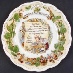 Royal Doulton BRAMBLY HEDGE Hony Nut Biscuit Recipe Plate 6533143 #RoyalDoulton