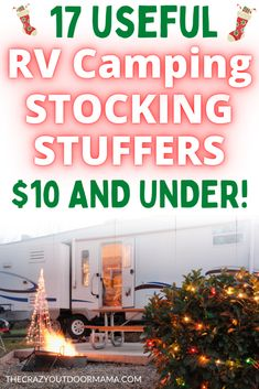 17 Useful RV Camping Stocking Stuffers $10 and UNDER! Rv Camping Tips, Travel Trailer Camping, Backpacking Tips, Camping Car, Rv Travel, Outdoor Camping, Hiker Trailer, Camping Supplies, Camper Life
