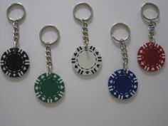 Poker Chip Keychain  Upcycled Pick your Color by RecyclingTime, $6.99