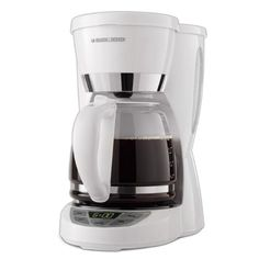 Black & Decker CM1050W 12-Cup Programmable Coffeemaker, White simple reviews