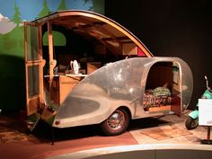 oh, I love this... 1950 KAMP MASTER  Teardrop Trailer***Research for possible future project.