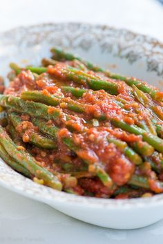 Fagiolini in umido (Green Beans in Tomato Sauce)