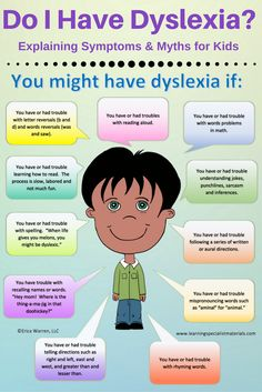 Learning Specialist and Teacher Materials - Good Sensory Learning: Do I have dyslexia? Explaining Symptoms and Myths for Kids
