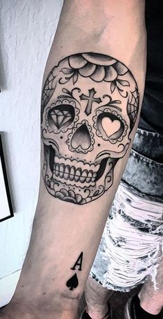 Mexican skull tattoo design – Mexican Skull Tattoo Design – Conception of the Tatouage de Crâne Mexicain – Diseño de Tatuaje de Calavera Mexicana – Skull Tattoo Design Sketches, Skull Tattoo des Mexican Skull Tattoos, Deer Skull Tattoos, Sugar Skull Tattoos, Skull Tattoo Design, Mexican Skulls, Skull Candy Tattoo, Sugar Tattoo, Forarm Tattoos, Dope Tattoos