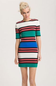 French Connection 'Jag' Multi Stripe Dress