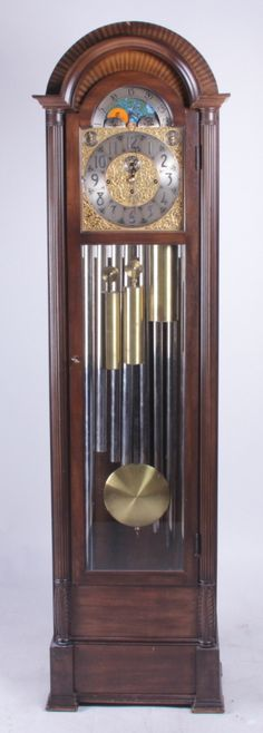 Herschede Mahogany 9-Tube Tall Case Clock On  Herschede -6172