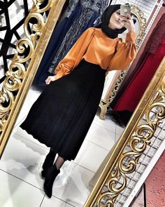 Hijab work outfits to get ready for meetings Fashion Mode, Abaya Fashion, Muslim Fashion, Modest Fashion, Fashion Outfits, Casual Hijab Outfit, Hijab Chic, Hijab Dress, Hijab Fashion Casual