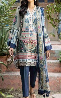 Lawn Suits, Cotton Suit, Famous Brands, Winter Dresses, Royal Blue, Sapphire, Kimono Top, Clothes, Tops