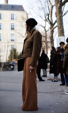 Pantalones palazzo street style 2015