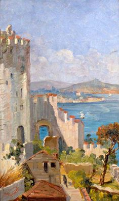 Rumeli Castle by Turkish Impressionist Painter Sevket Dağ