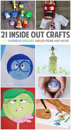 This movie was a huge hit in my family which led us to start making all sorts of Inside Out crafts.