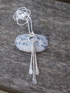 Necklace, silver necklace, forged necklace, handmade silver jewellery £40.00