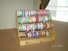 Wooden Ribbon Dispenser made by my husband