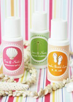 Sunscreen Favours