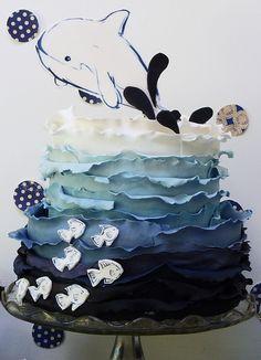 Underwater cake by neviepiecakes, via Flickr