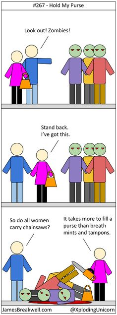 James Breakwell's Unbelievably Bad Webcomic: Hold My Purse