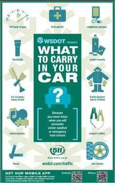 Low temperatures make for dangerous road conditions, whether it snows or not. The Washington State Department of Transportation (WSDOT) tweeted a poster earlier this week showing a few items that m…